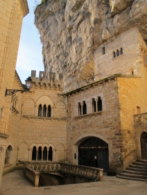 The shrine of the Black Virgin, Rocamadour.