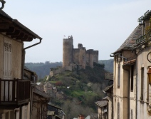 Najac with the medieval chateau